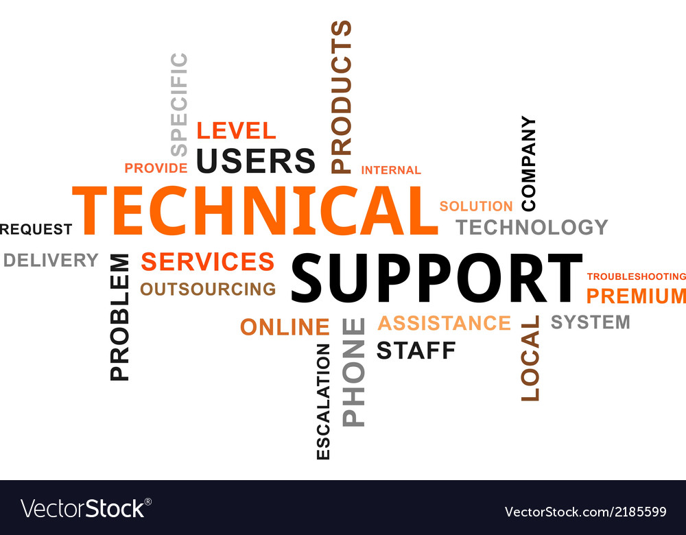 word cloud technical support royalty free vector image