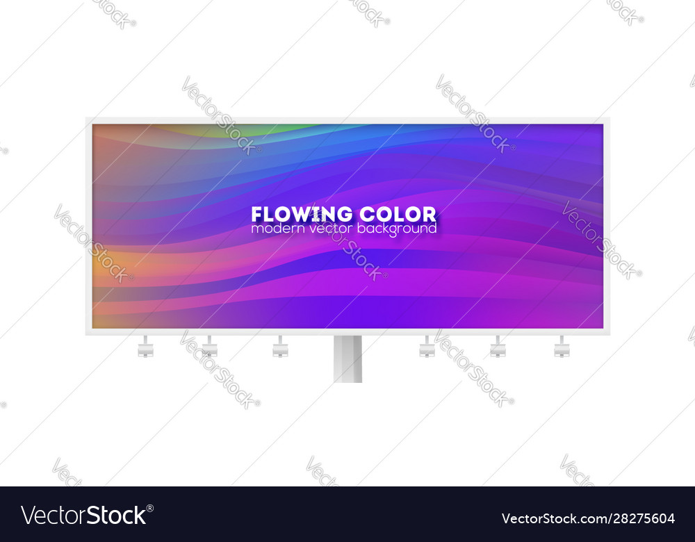 Billboard with flowing pattern stream colorful