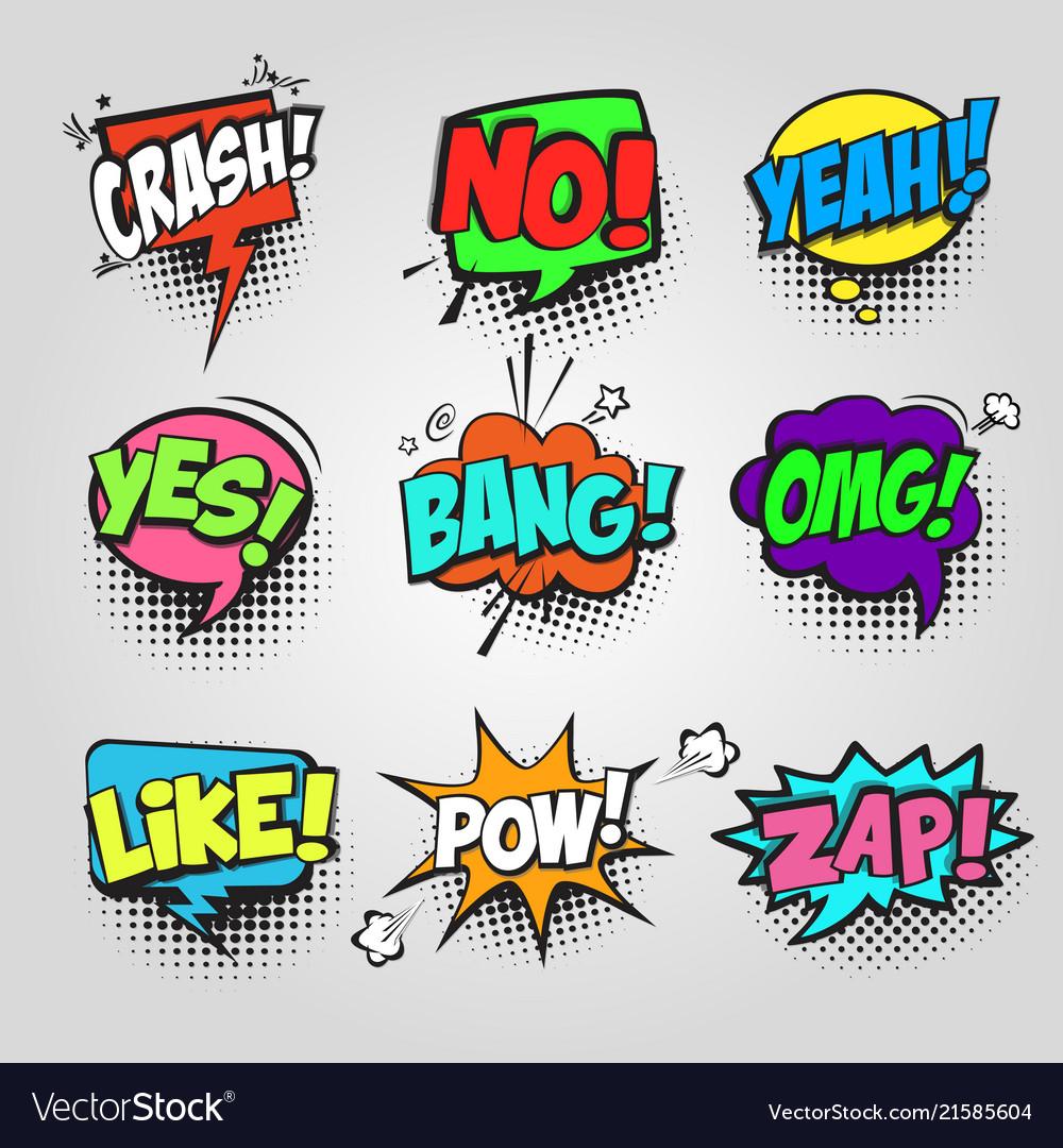 Comic bubble speech communication frame pop art