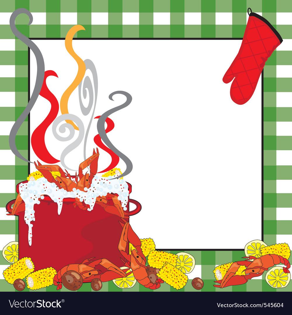 Crawfish boil invitation Royalty Free Vector Image