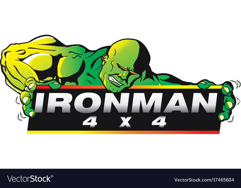 Iron man 4 x 4 vector image