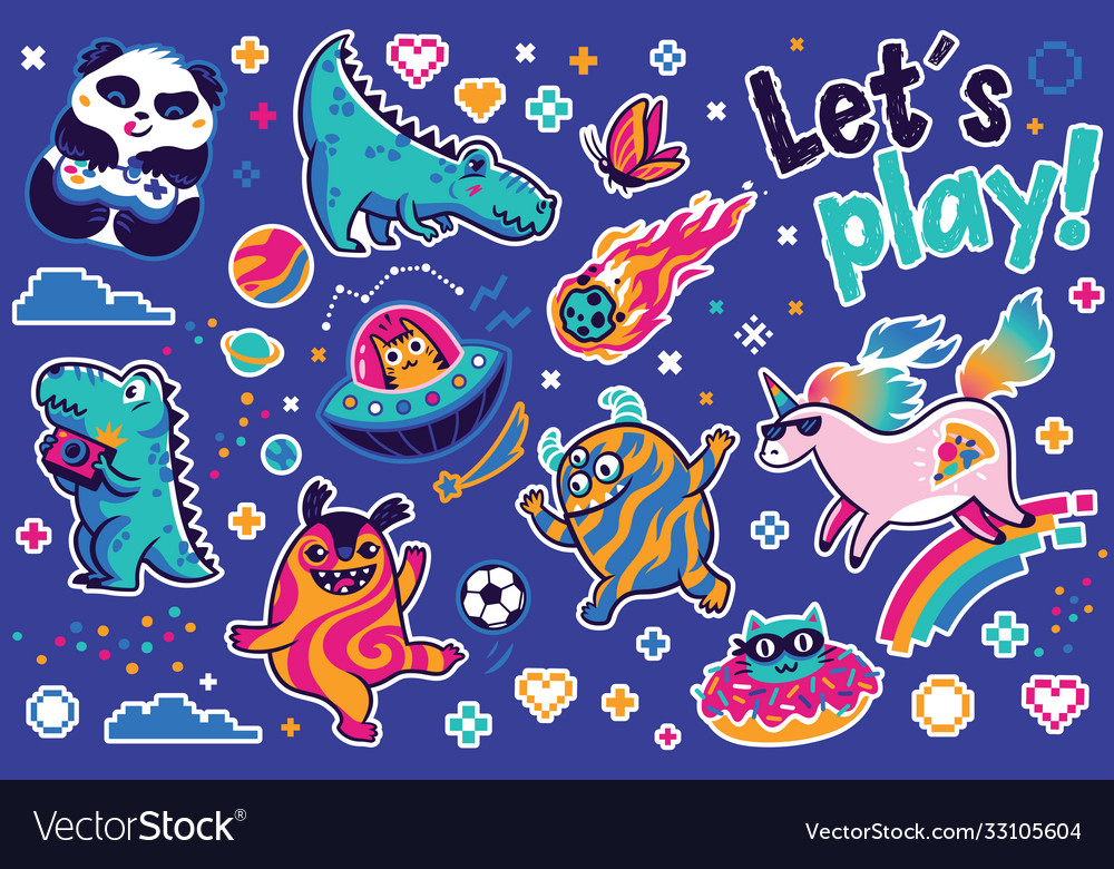 Let is play with cosmic guys dino and unicorns