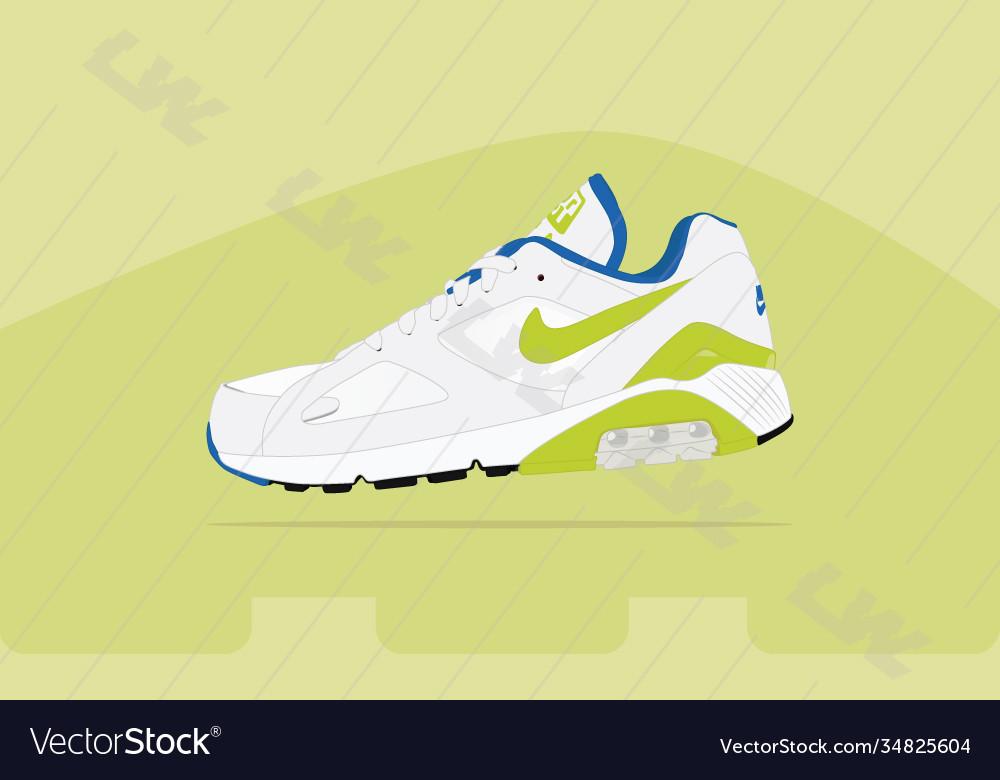 Nike air 180 og green air max Royalty Free Vector Image