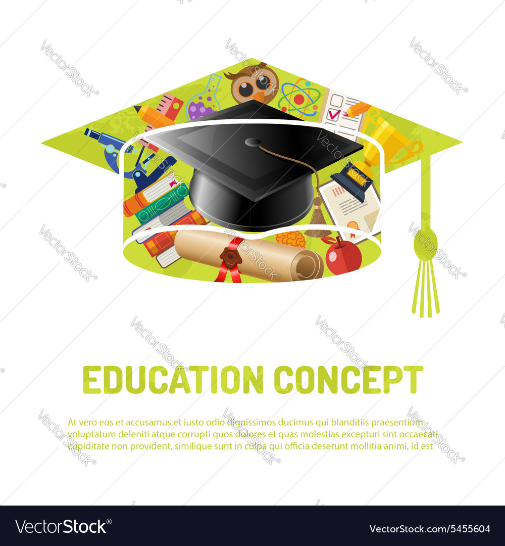 Online Education Poster vector image