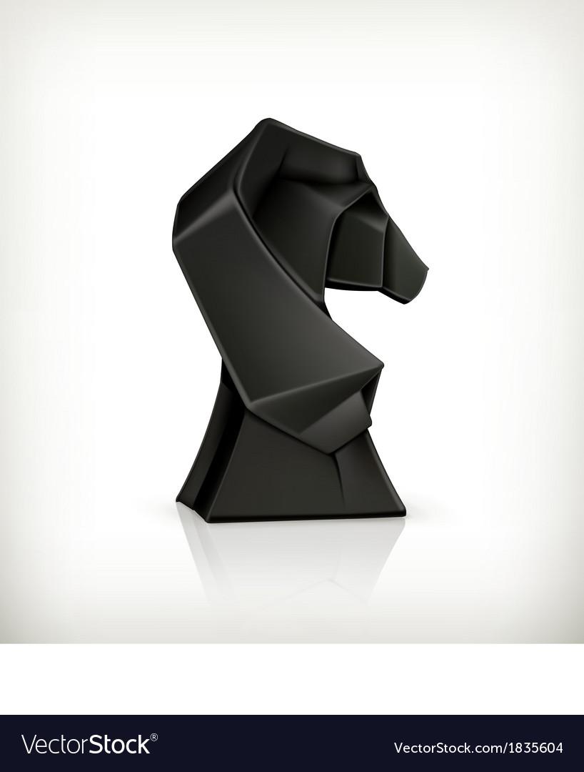 Paper Horse Origami Royalty Free Vector Image Vectorstock