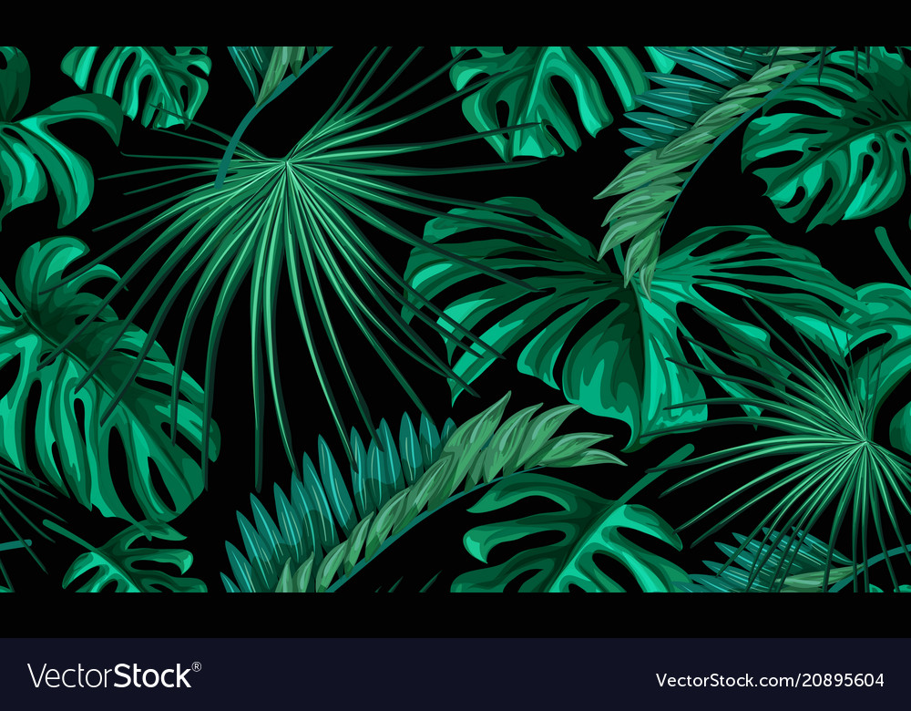 Tropical Leaves Summer Seamless Pattern Royalty Free Vector Classy Tropical Leaves Pattern