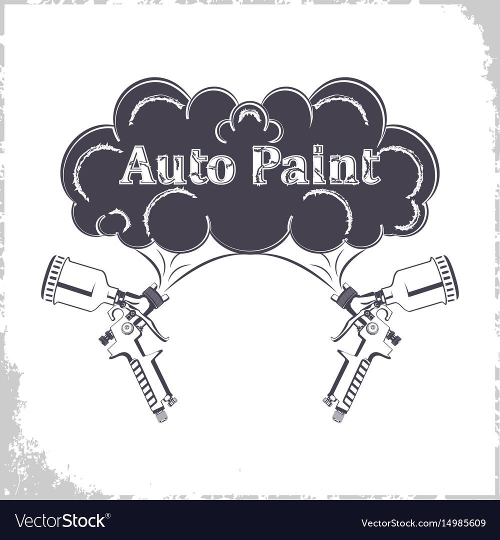 Auto paint gun monochrome