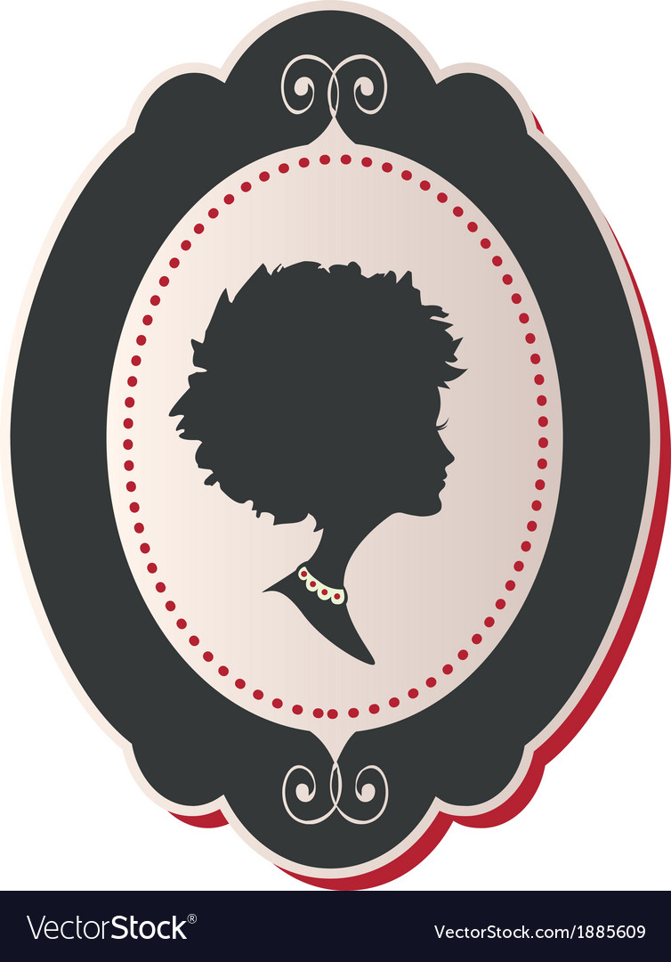 Cameo Lady afro hair vector image
