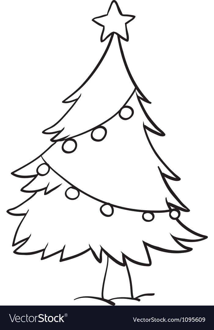 Christmas Tree Outline.Christmas Tree Outline
