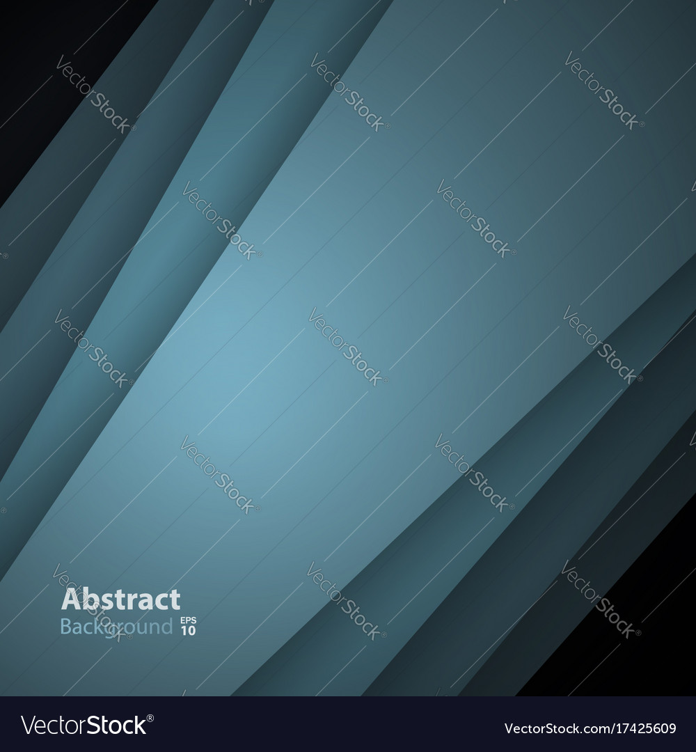 Green-gray background with overlay paper layer vector image