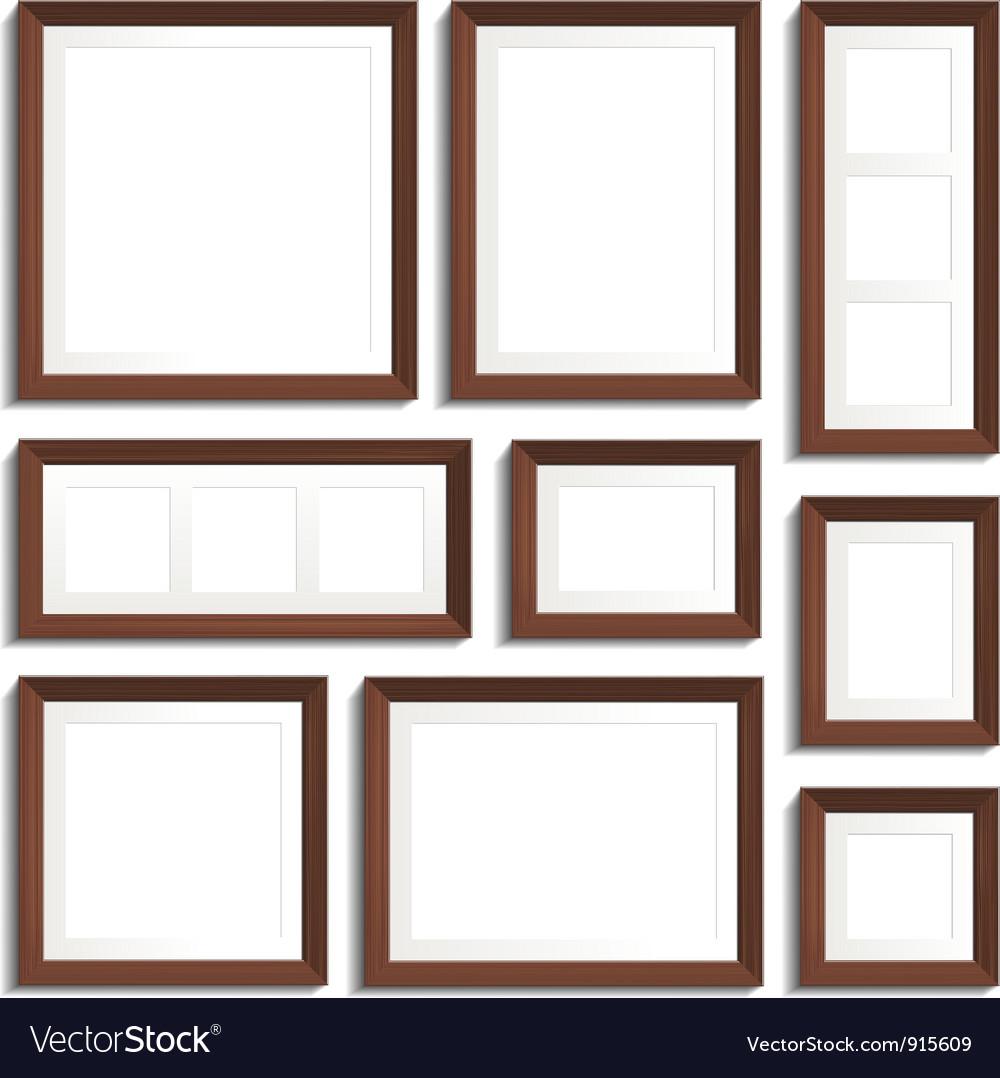 Wenge frames set Royalty Free Vector Image - VectorStock