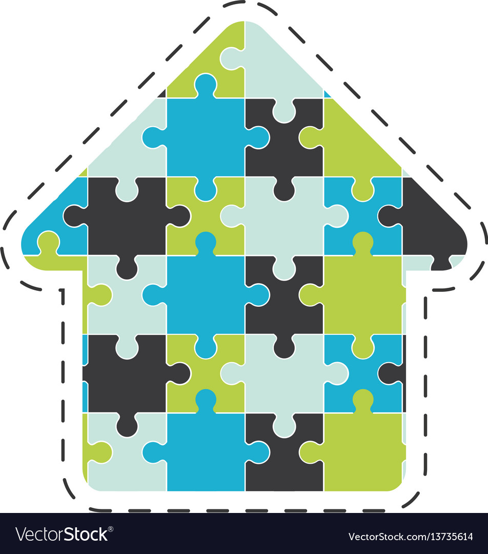 Arrow puzzle solution image vector image