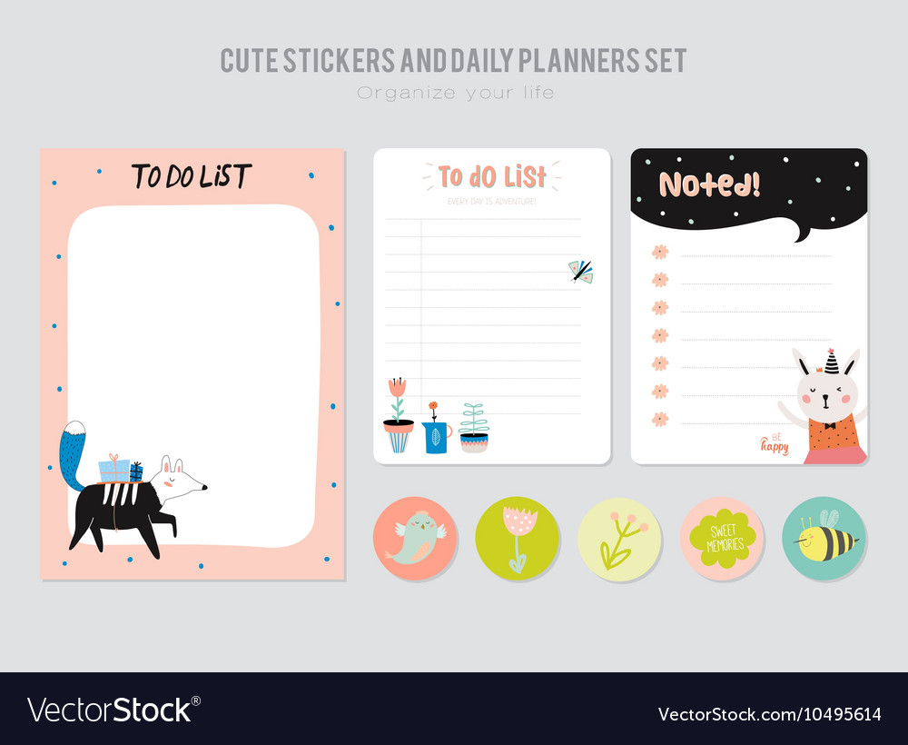 Cute Daily Calendar Template