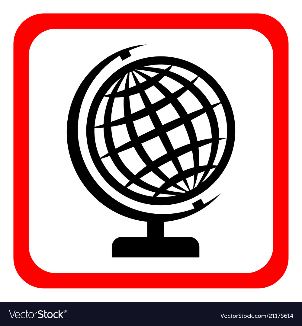 Globe icon globe symbol flat