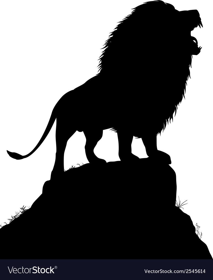 Lion roar vector image