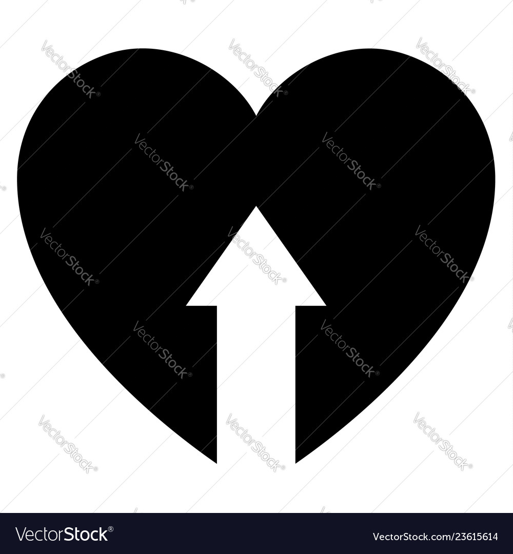 Love icon or valentines day sign designed vector