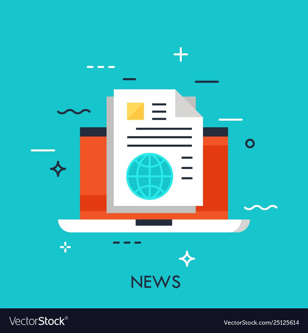 Modern thin line design concept for e-news