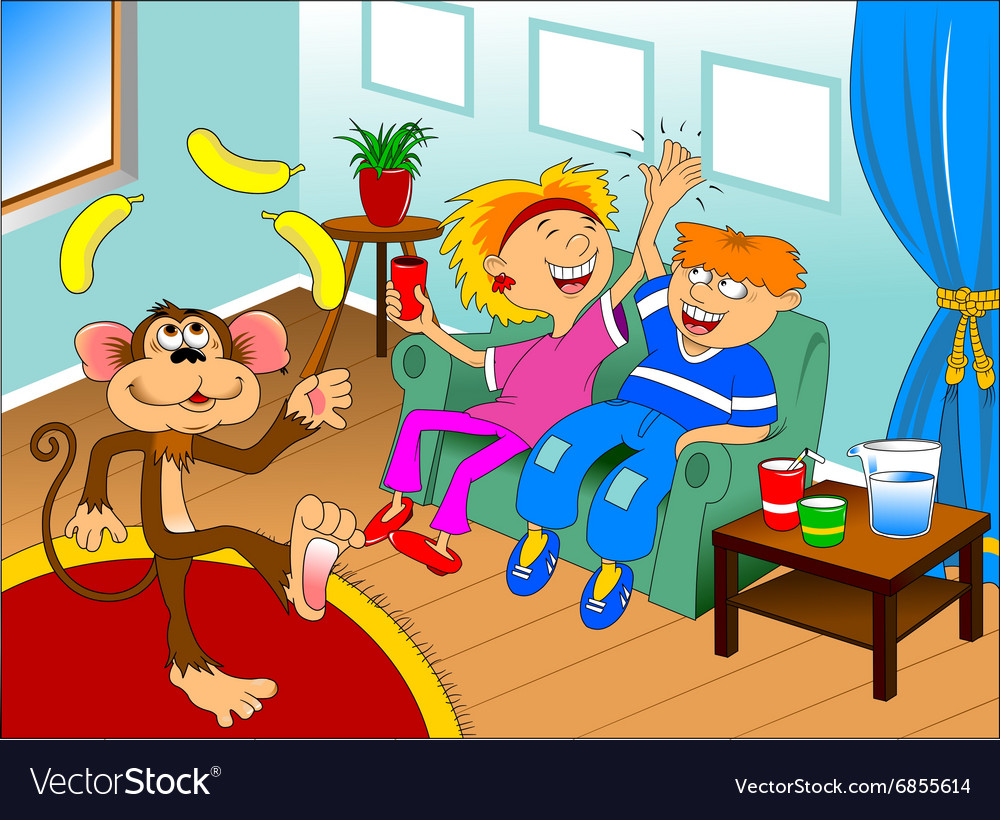 Monkey on holiday vector image