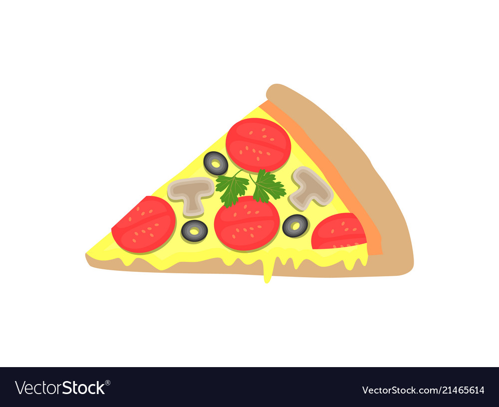 Pizza piece image isolated on white background