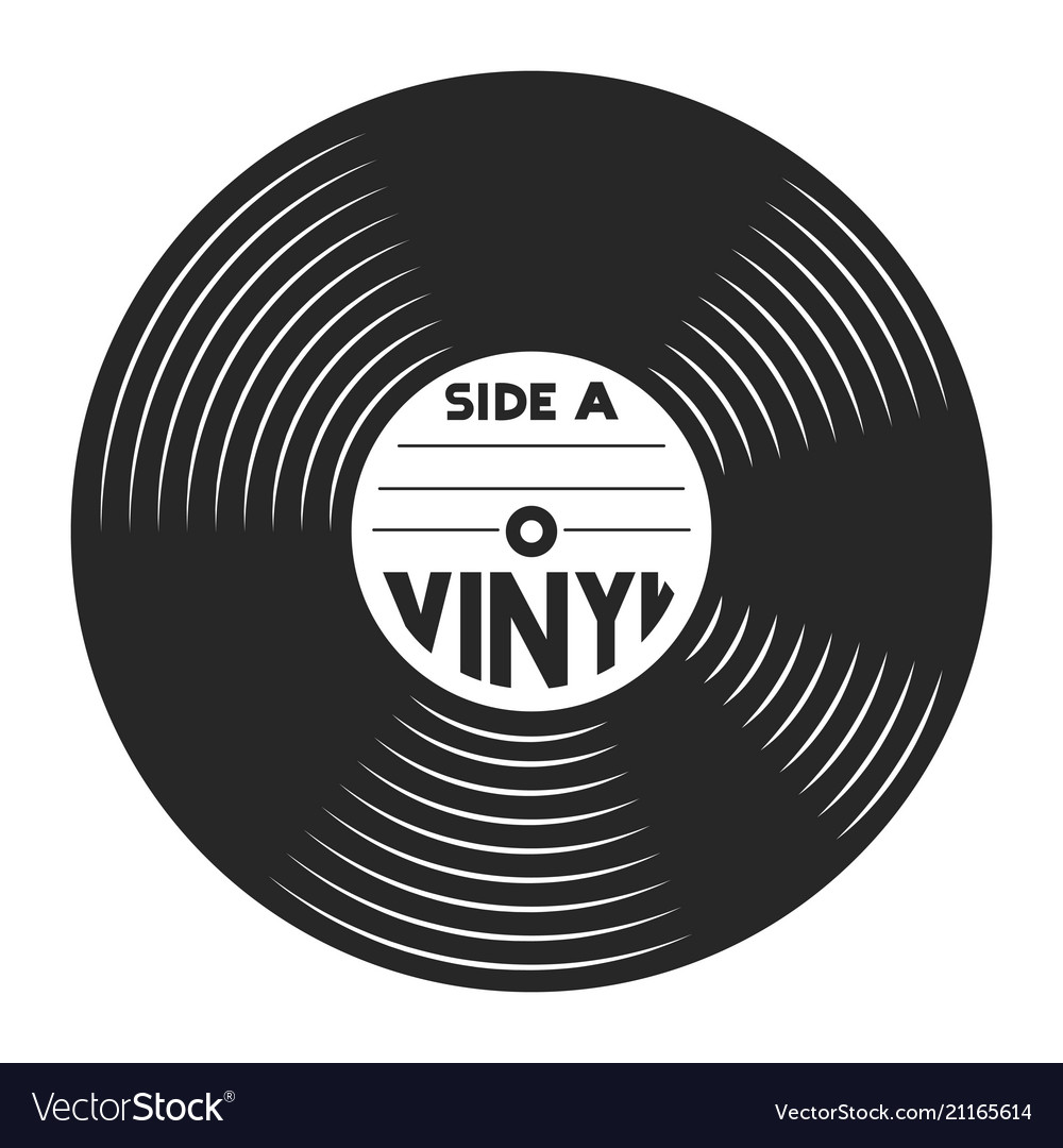 Vintage vinyl record message removed