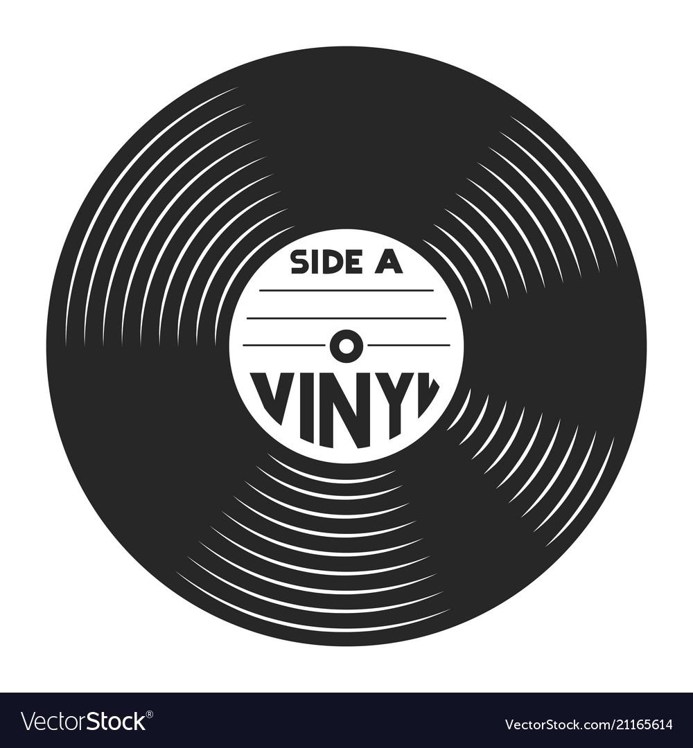 retro vinyl record concept royalty free vector image rh vectorstock com vinyl record vector free download retro vinyl record vector