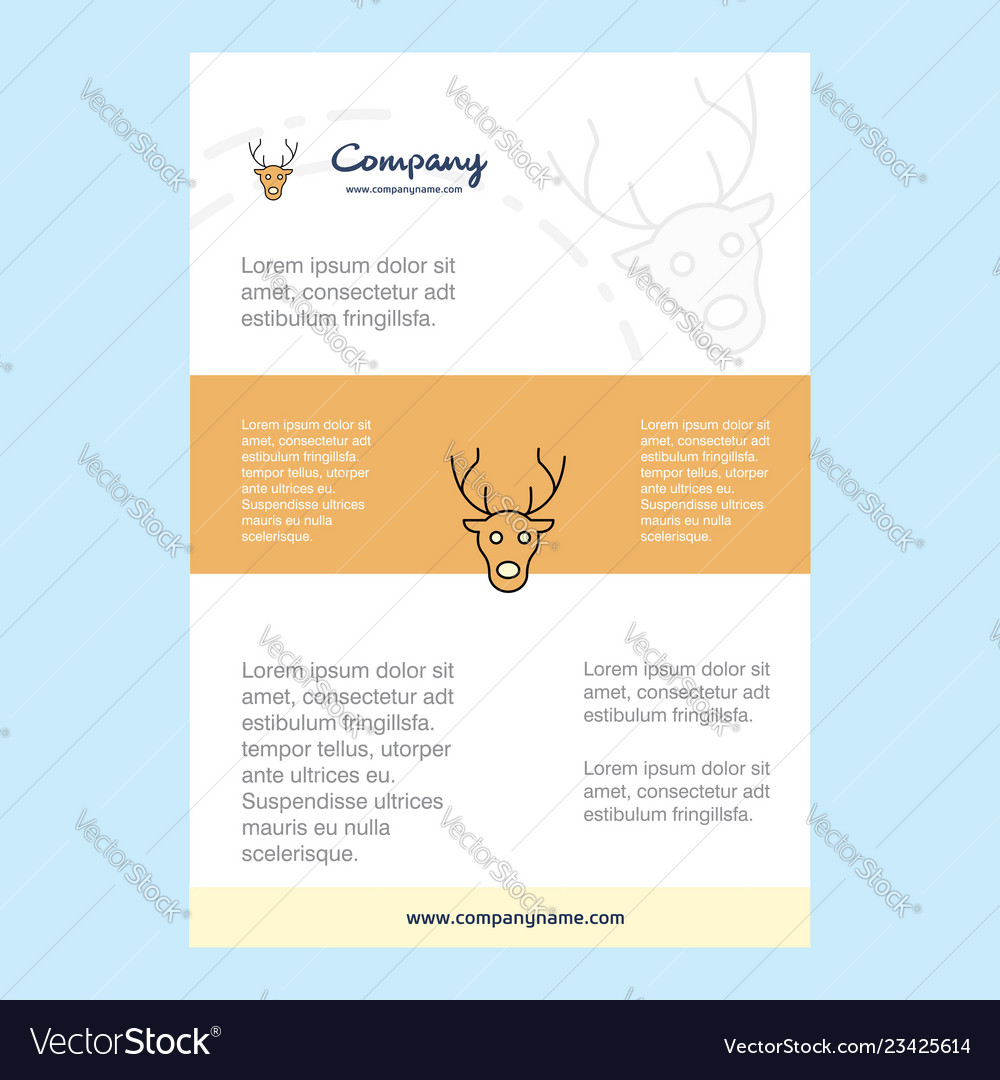 Template layout for reindeer comany profile