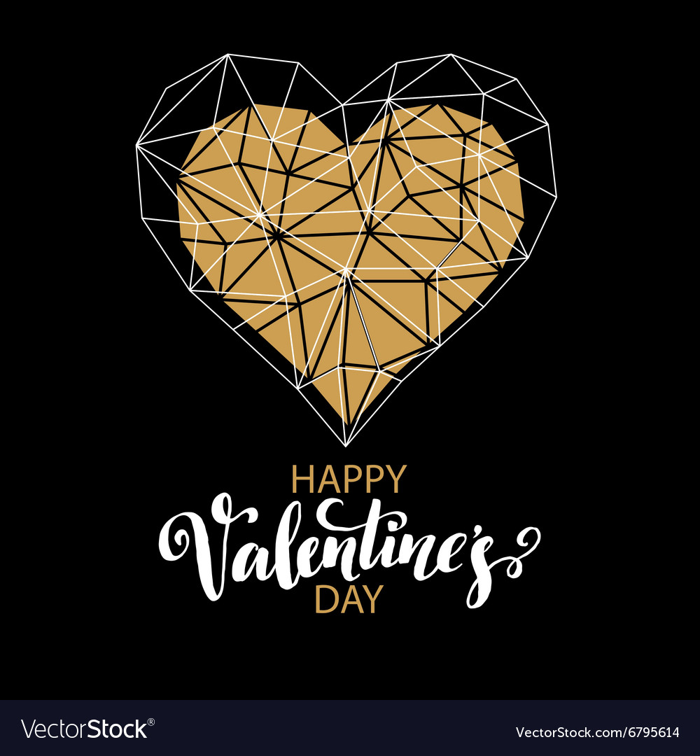Valentines day love greeting card with geometric