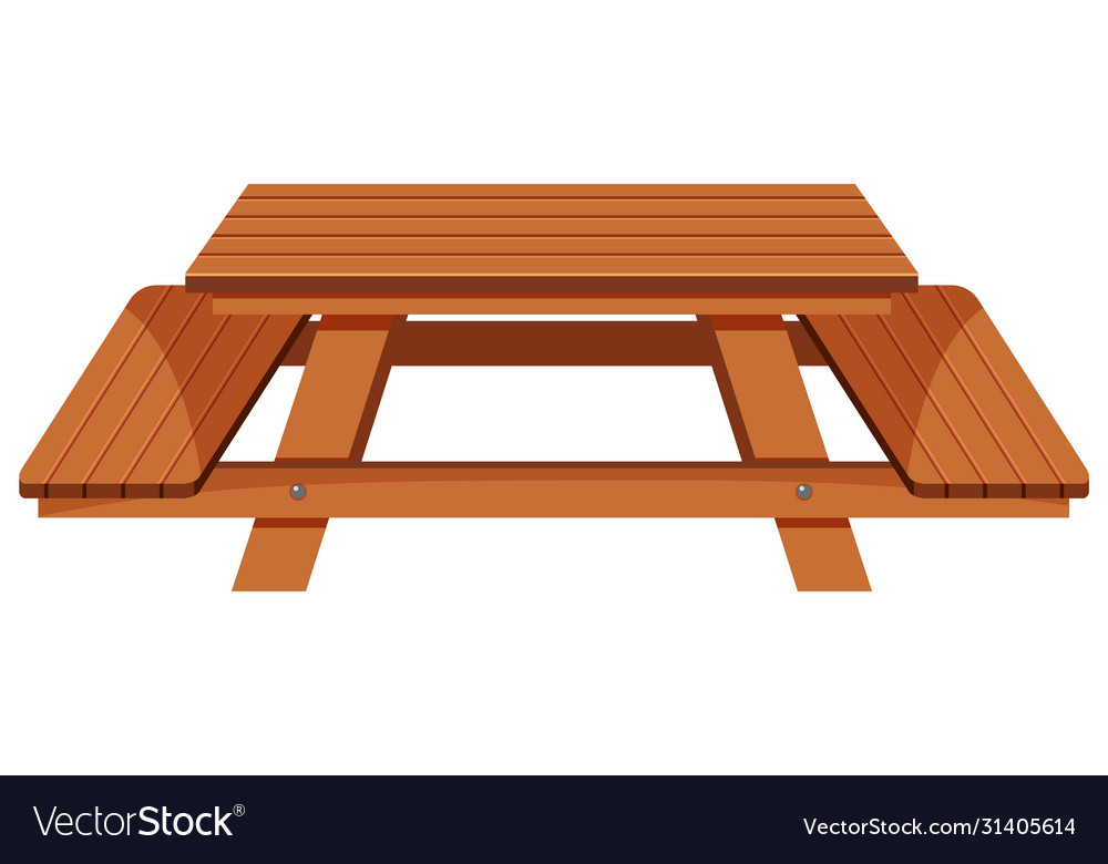 Stainless Steel Bathroom Vanity Cabinet, Wooden Picnic Table On White Background Royalty Free Vector