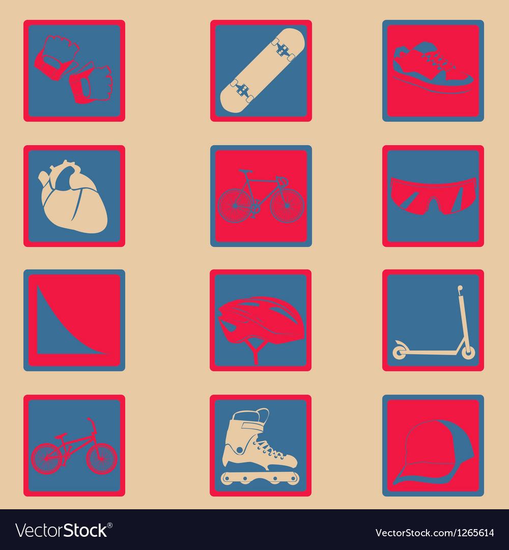 Xgame icon set basic style vector image