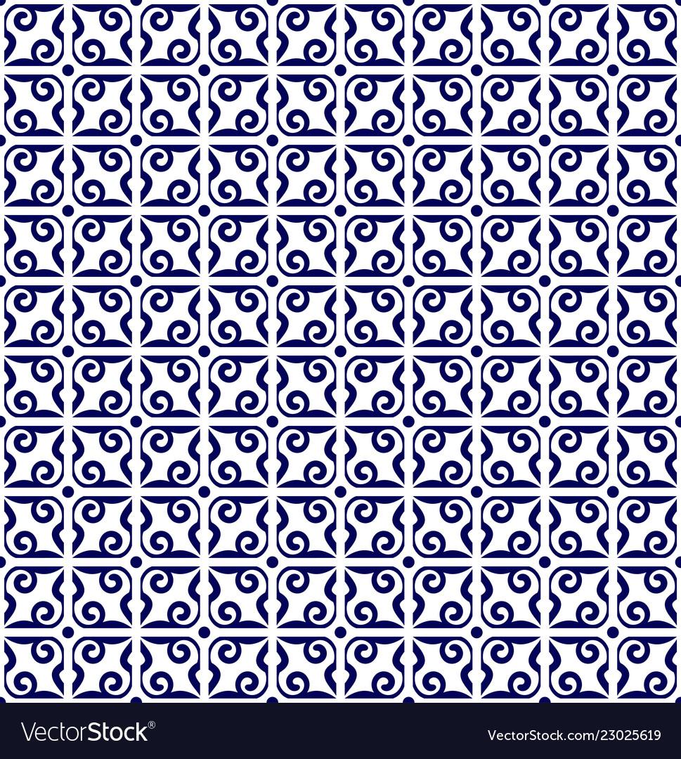 Baroque blue pattern
