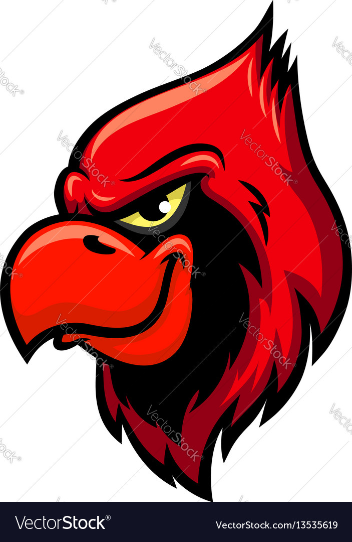 Cardinal red bird head icon