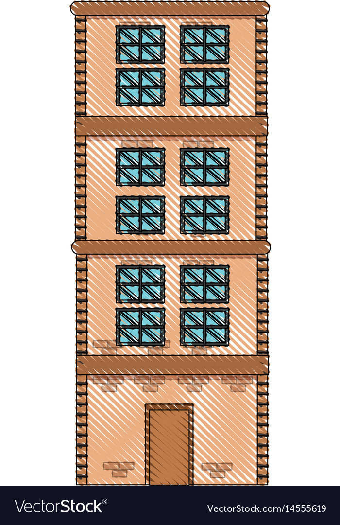 Drawing building home brick construction