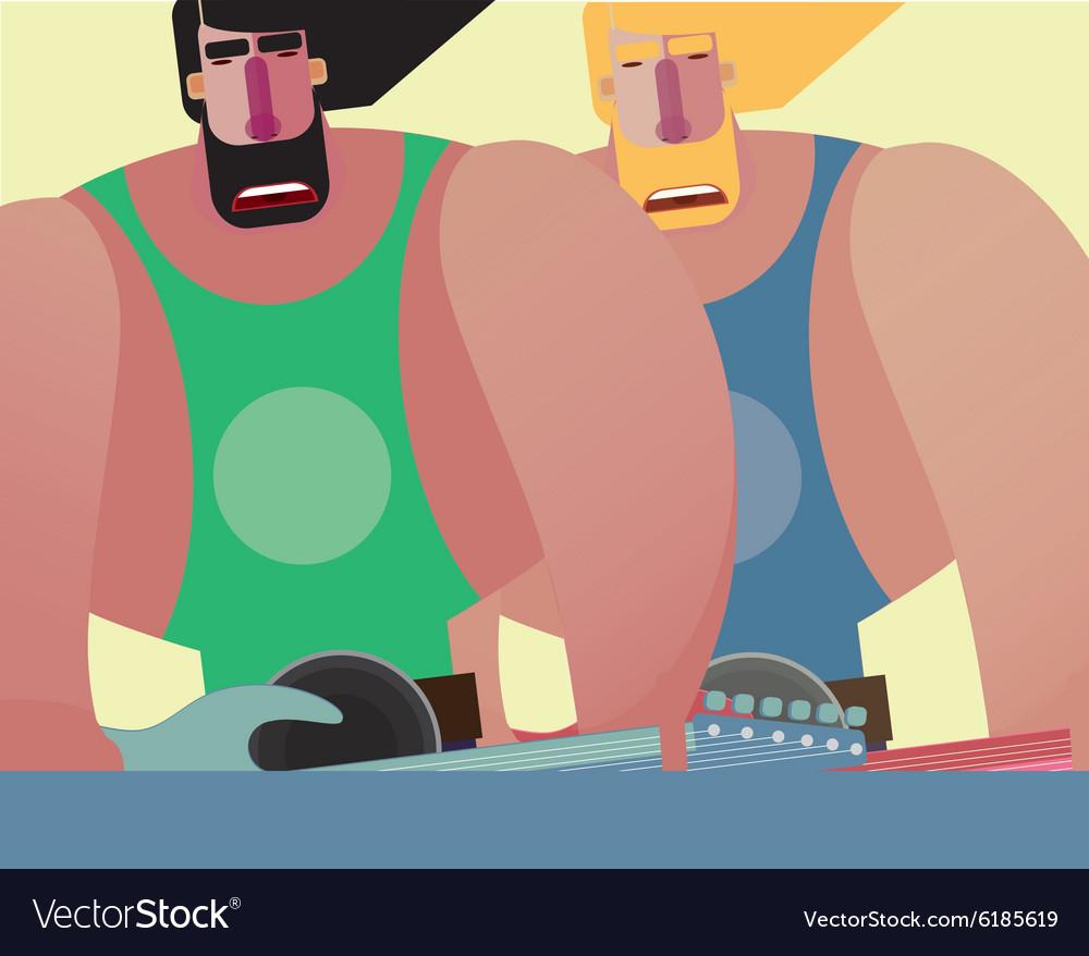 Rock band of two same men