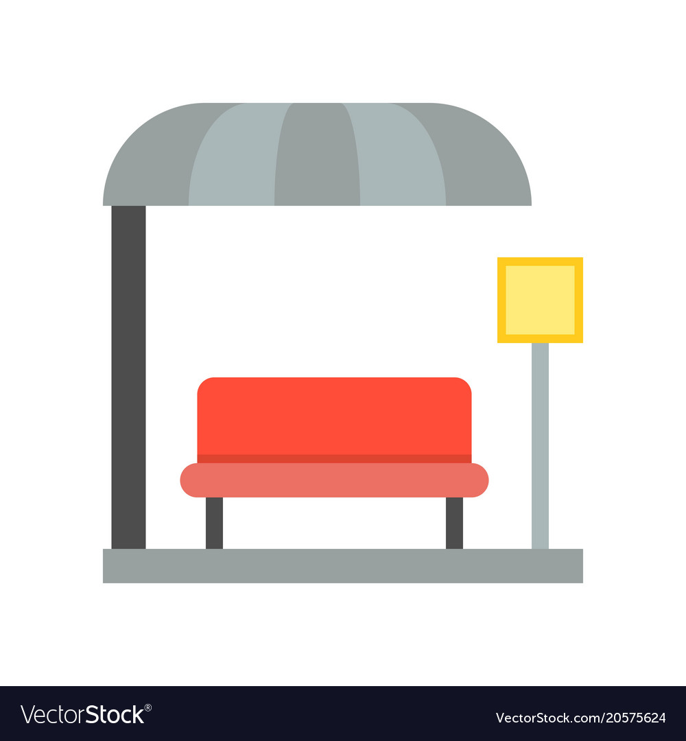 Bus station bus stop icon