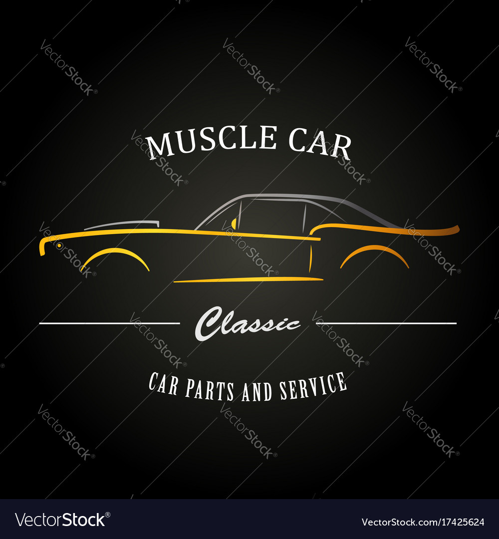 Classic muscle car silhouette vehicle silhouette
