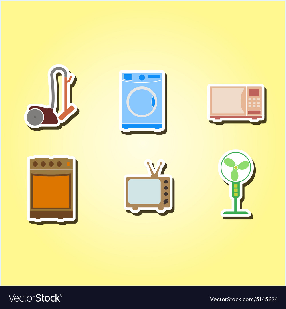 Color icons with home technics