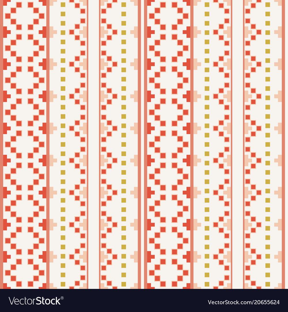 Folk embrodery pattern vector image