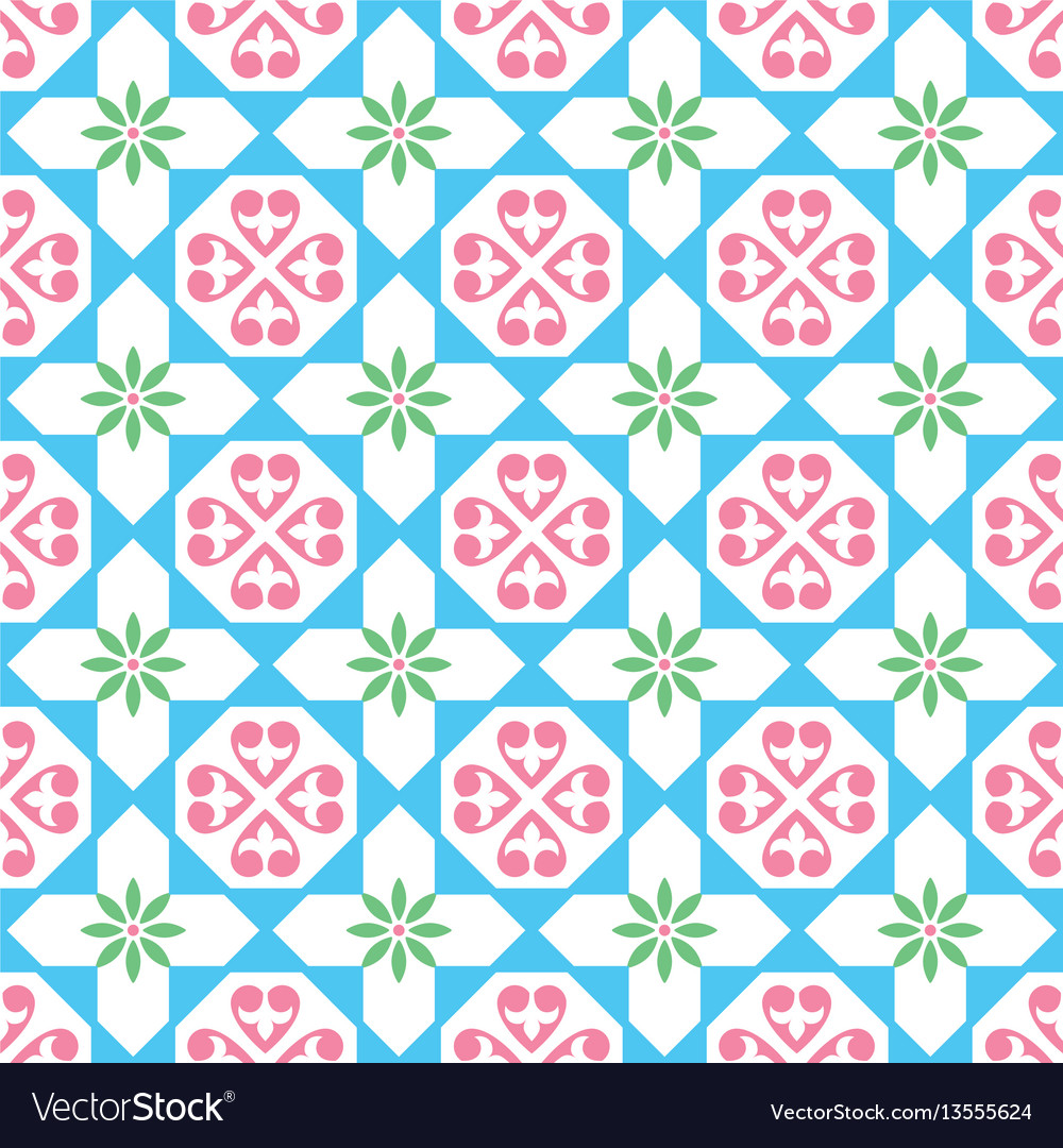 Spanish tiles pattern seamless design