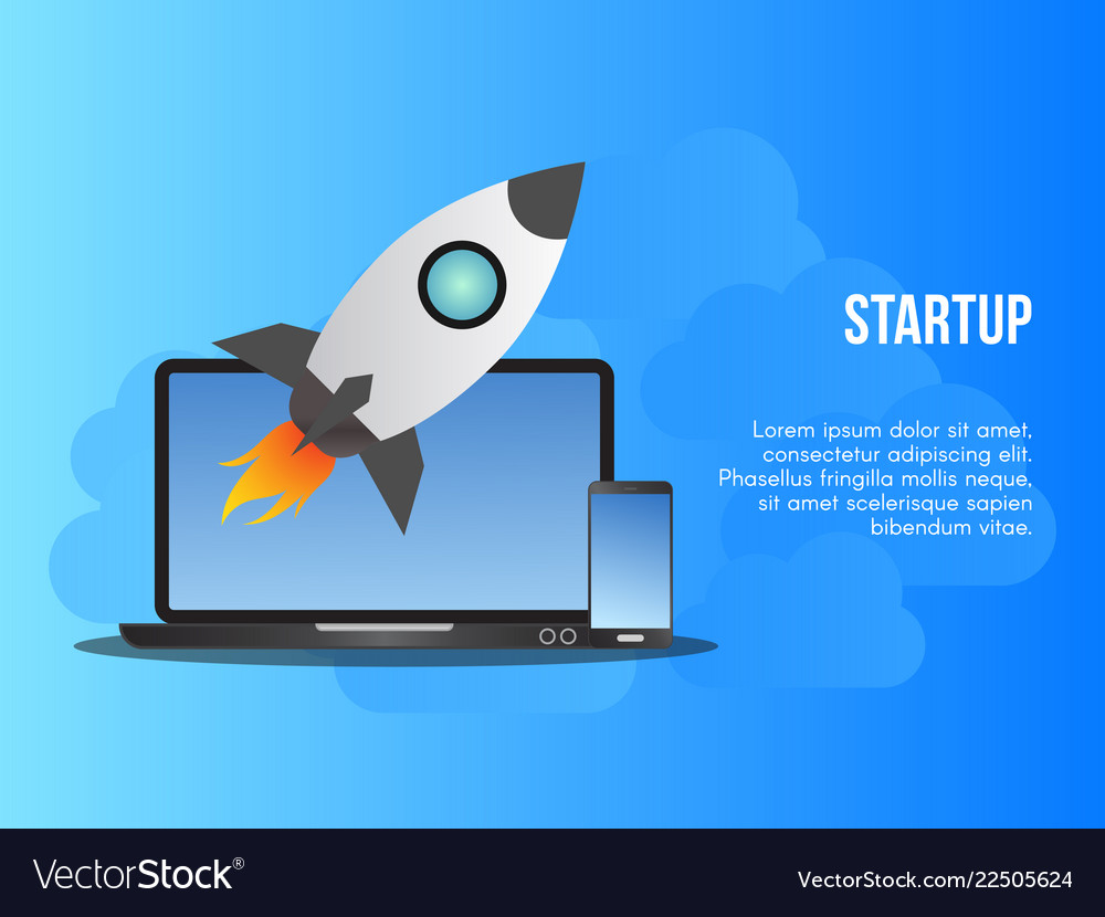 Startup business concept design template
