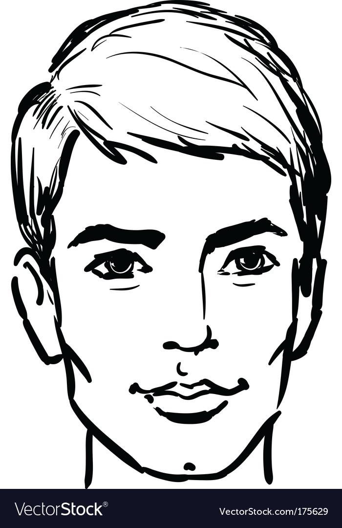 Attractive man vector image