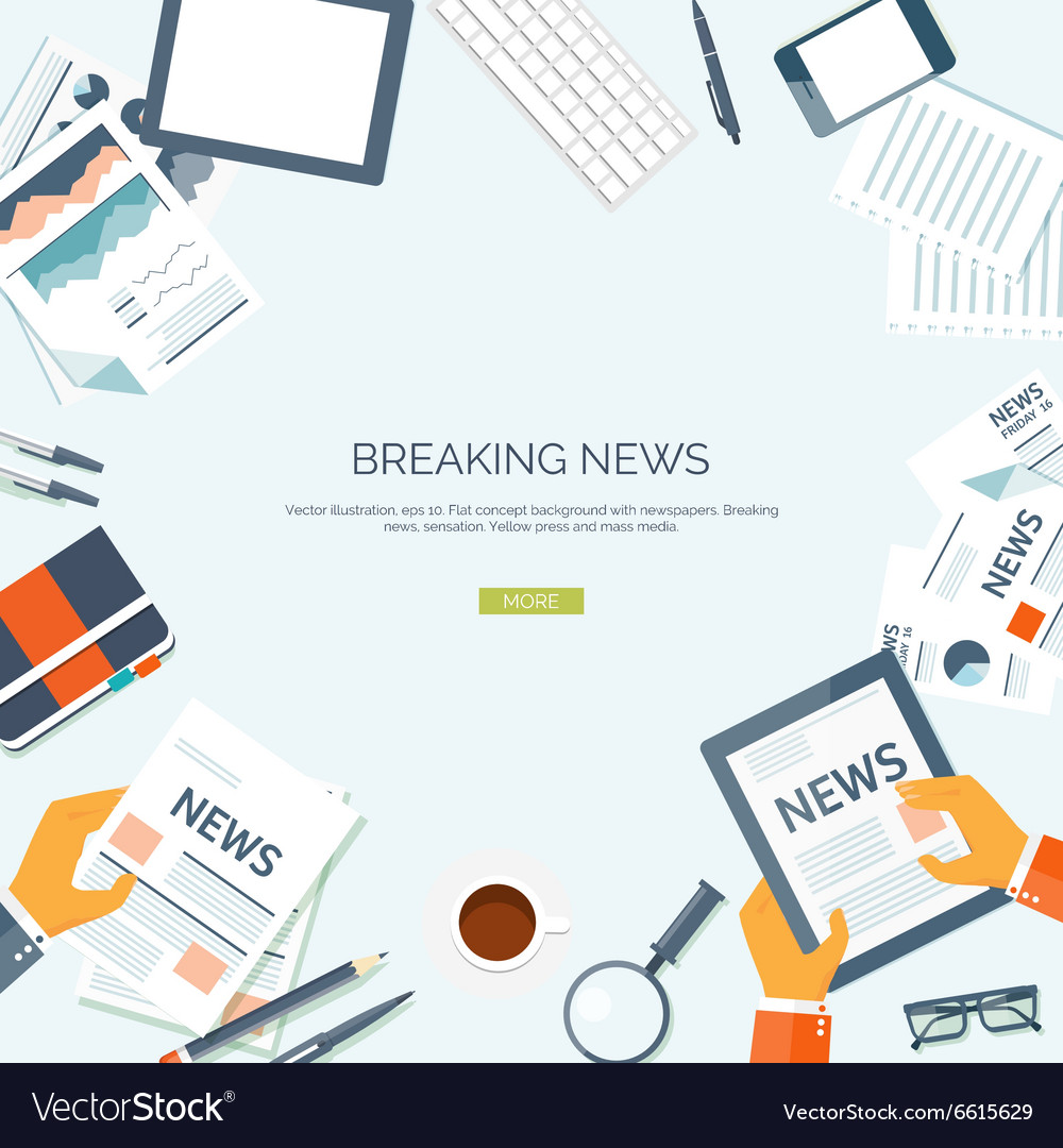 Flat header Newsletter vector image