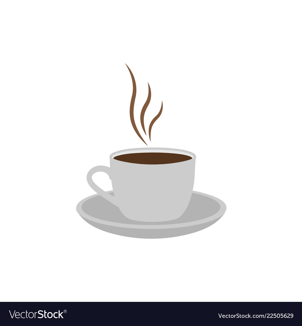 Hot coffee logo icon design template isolated