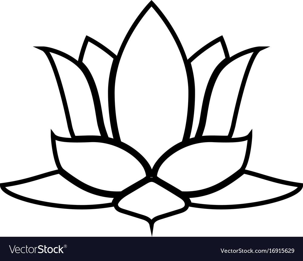 Lotus flower black color icon royalty free vector image lotus flower black color icon vector image mightylinksfo