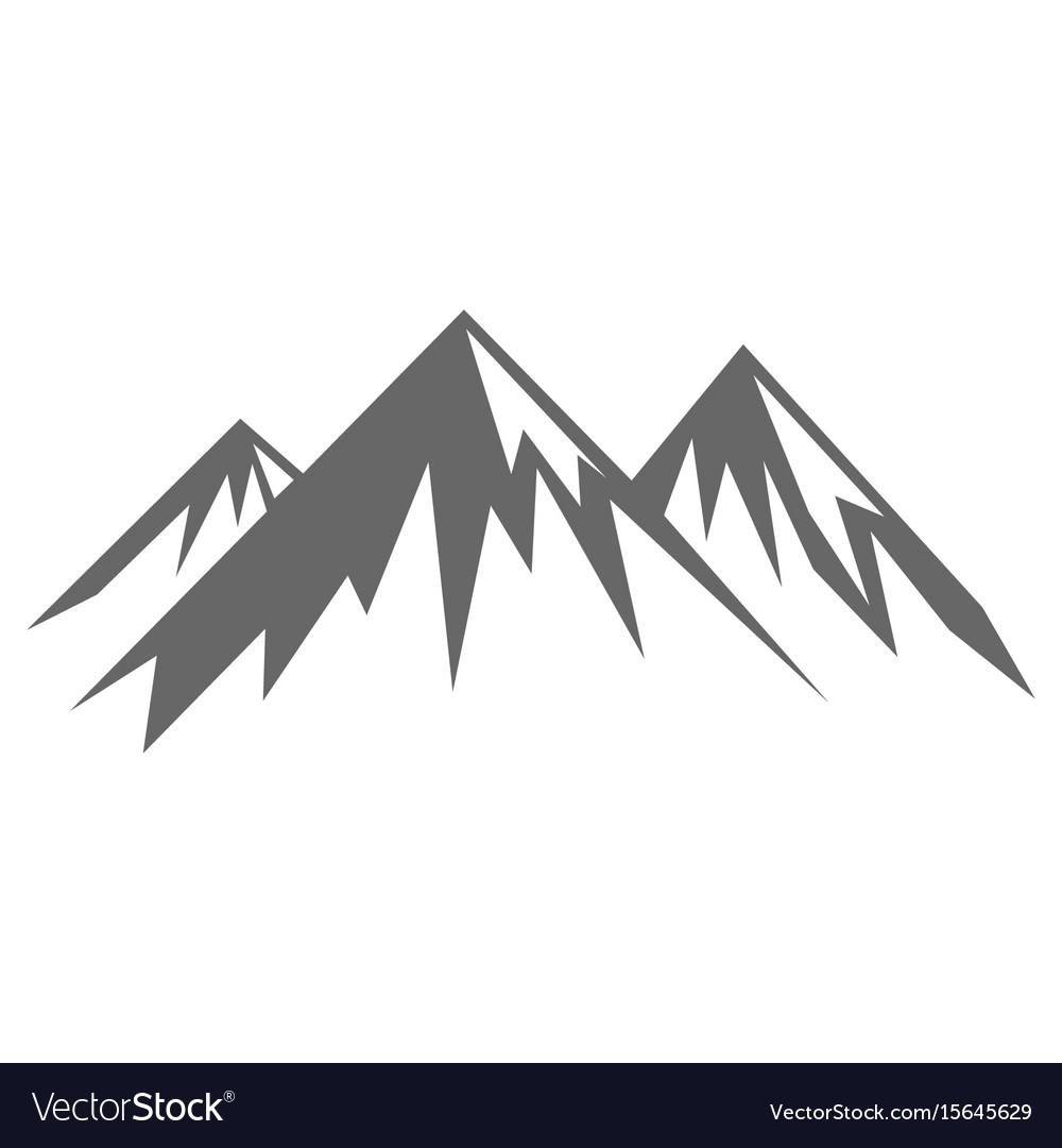 rock mountain silhouette royalty free vector image Mountain Silhouette Clip Art Simple Mountain Clip Art