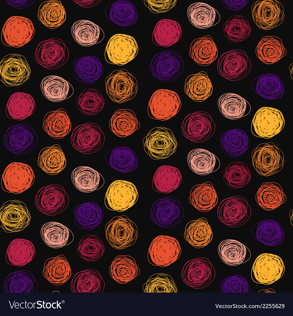 Seamless abstract childish scribble pattern