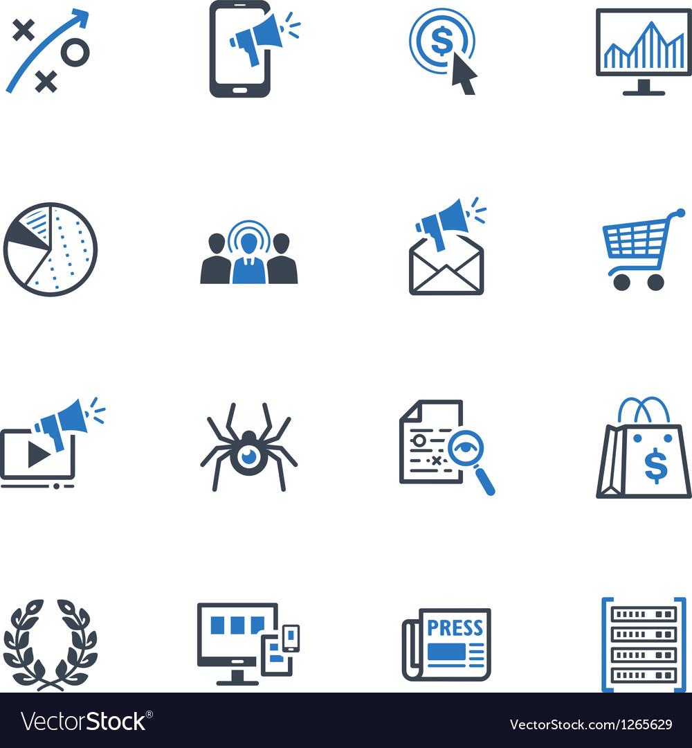 SEO and Internet Marketing Icons Set 3-Blue Series