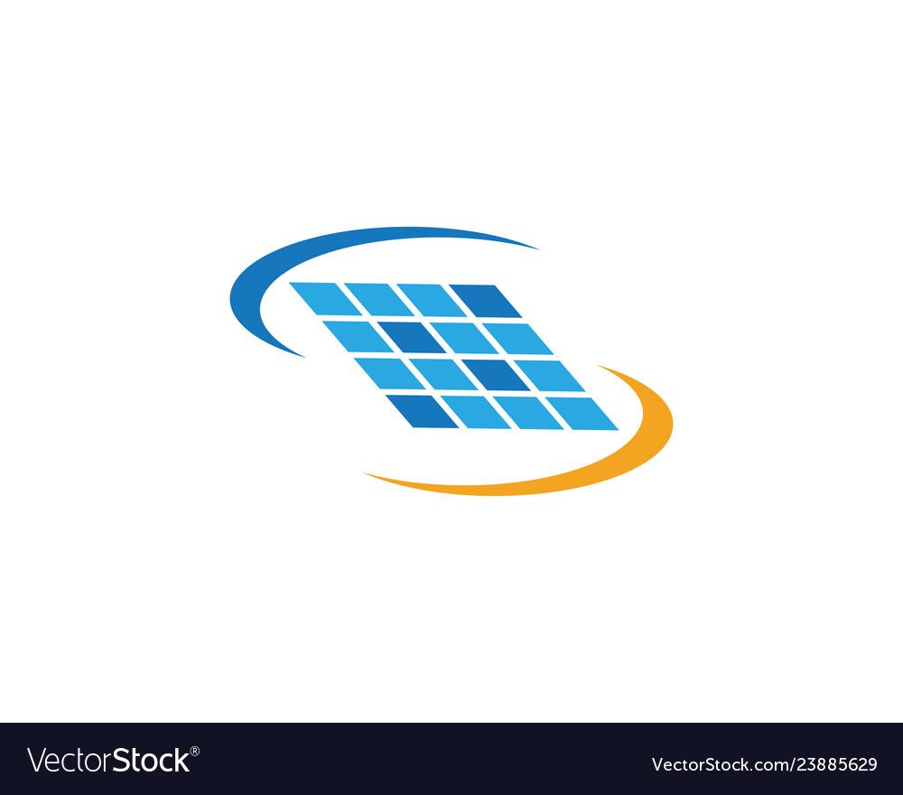 Solar logo energy icon