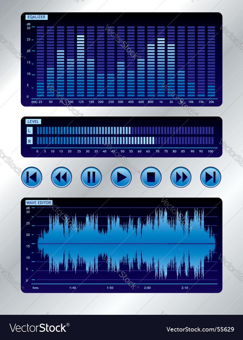 Sound mixer vector image
