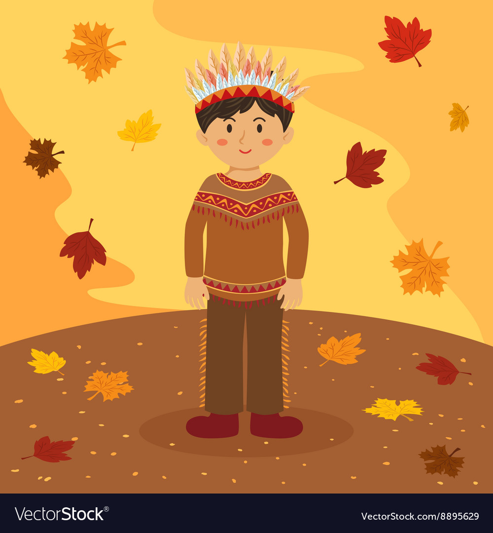 Thanksgiving Native Indian Boy