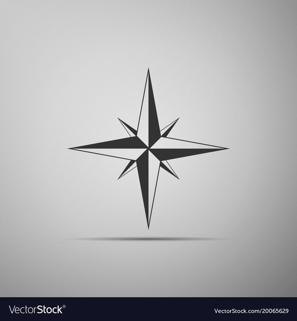 Wind rose icon compass icon for travel